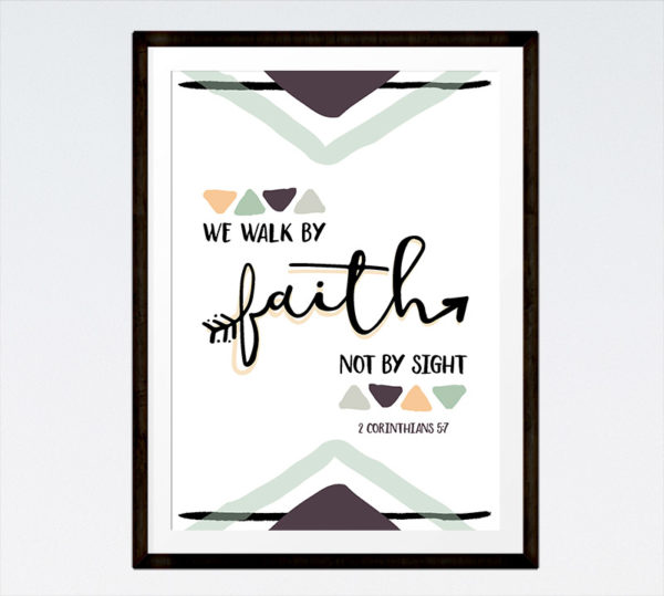 We walk by faith not by sight - 2 Corinthians 5:7