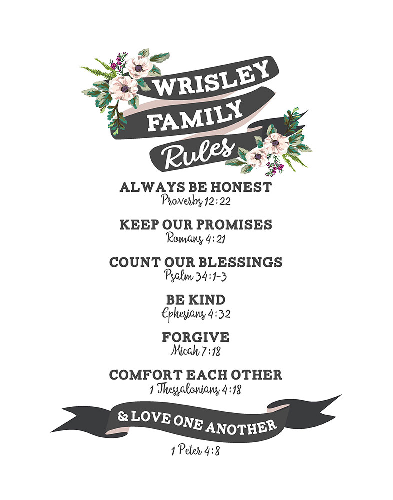 Our Family Rules