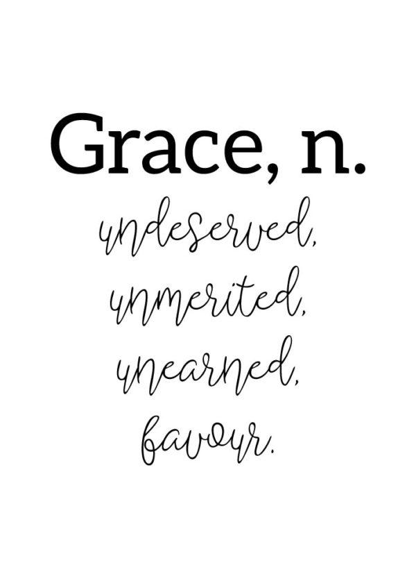 Grace, n.