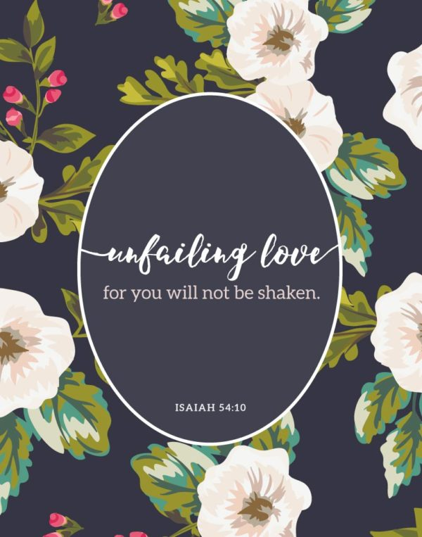 Unfailing love - Isaiah 54:10