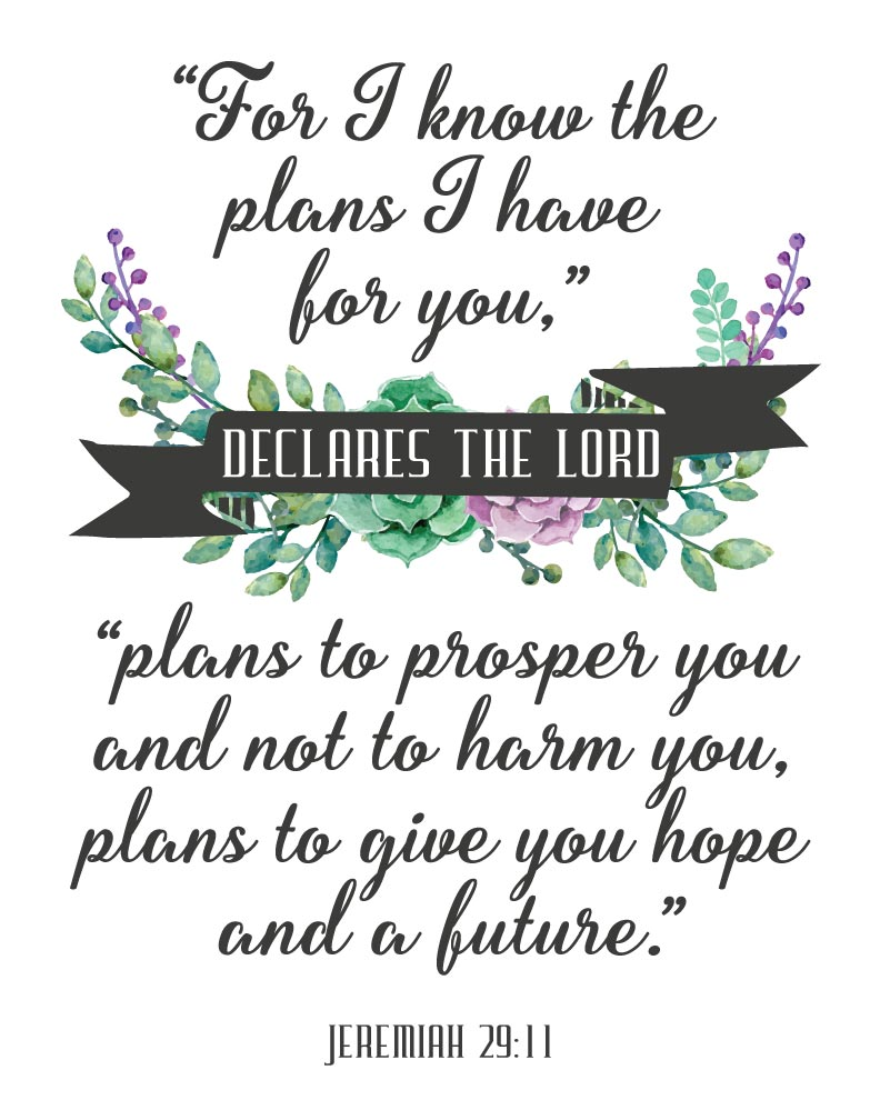 I Know The Plans I Have For You