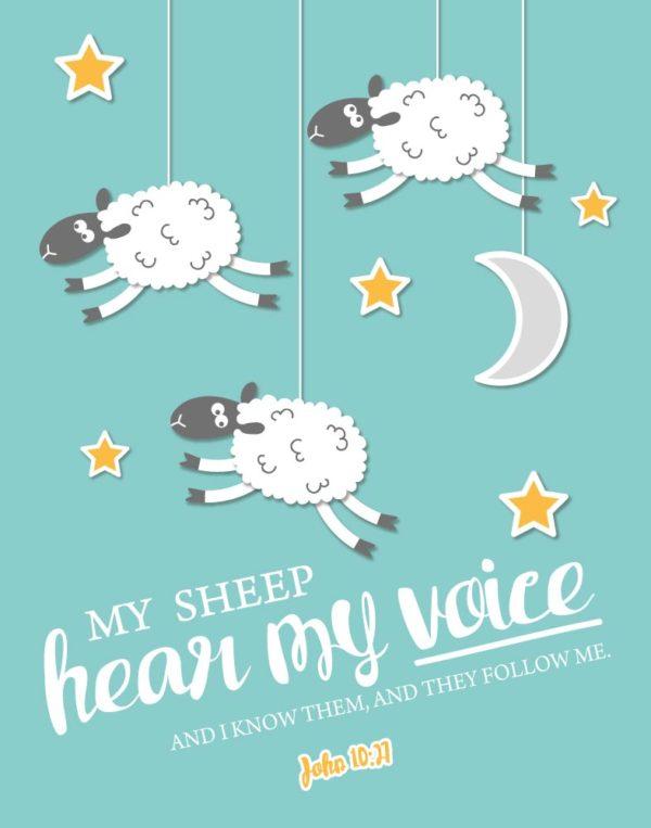 My sheep hear my voice - John 10:27