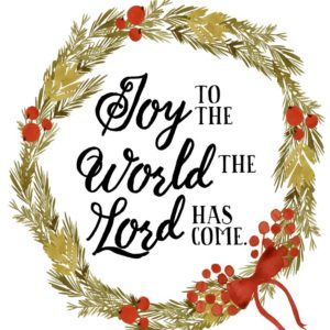 Joy to the world the Lord has come