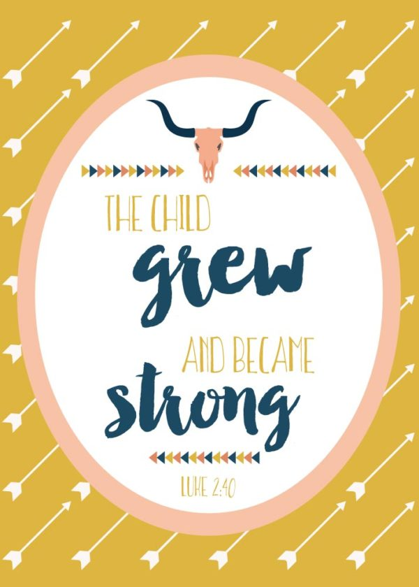 The child grew and became strong - Luke 2:40