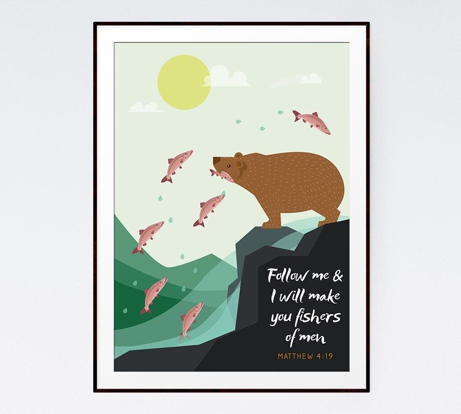 Follow me & I will make you fishers of men – Matthew 4:19