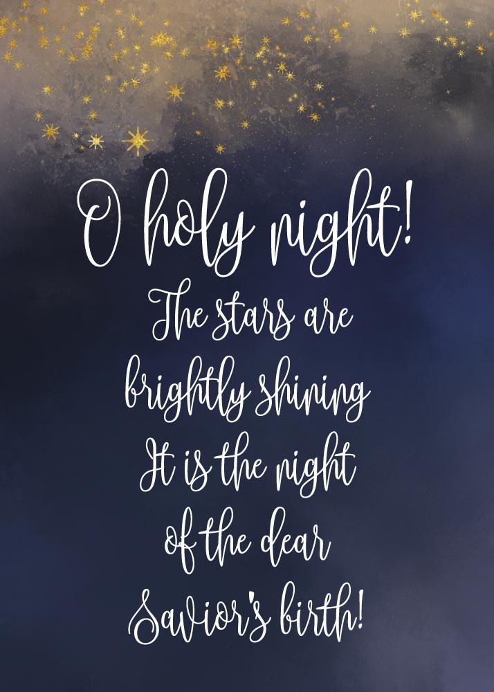 Oh holy night – Seeds of Faith