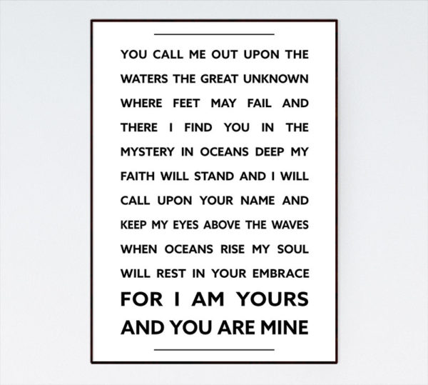 I am yours and you are mine