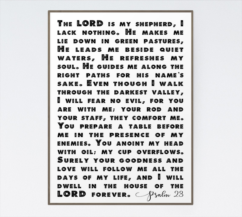 The Lord Is My Shepherd I Lack Nothing Psalm 23 Seeds Of Faith