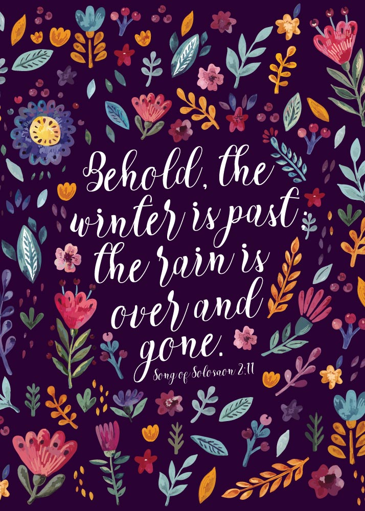 Behold, the winter is past; the rain is over and gone - Song of Solomon 2:11