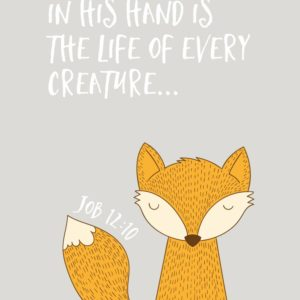 In His hand is the life of every creature - Job 12:10