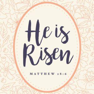 He has risen - Matthew 28:6