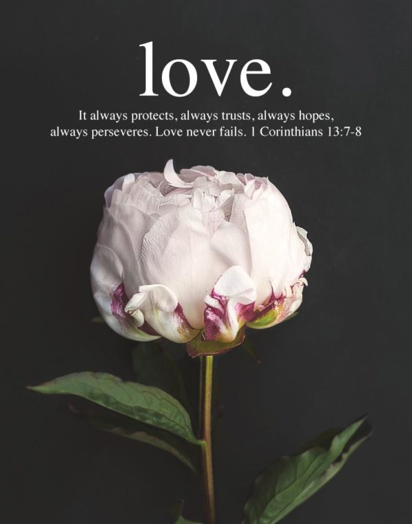 Love. It always protects, always trusts, always hopes - 1 Corinthians 13:7-8