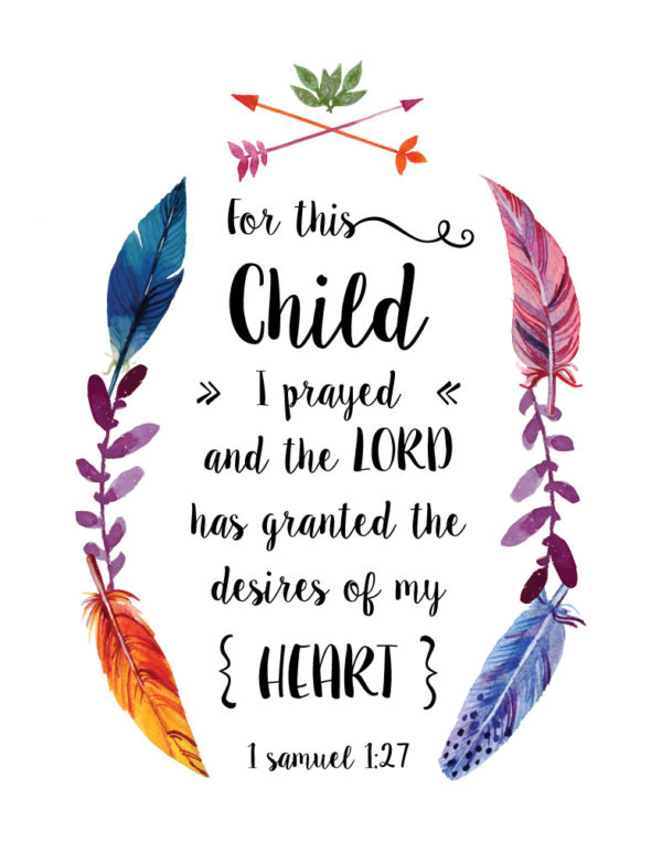 For This Child I Prayed – 1 Samuel 1:27