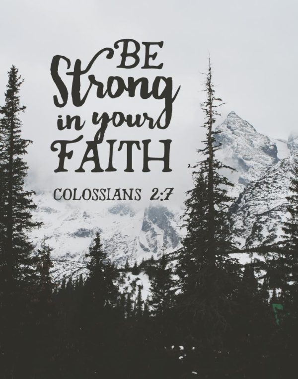 Be strong in your faith - Colossians 2:7