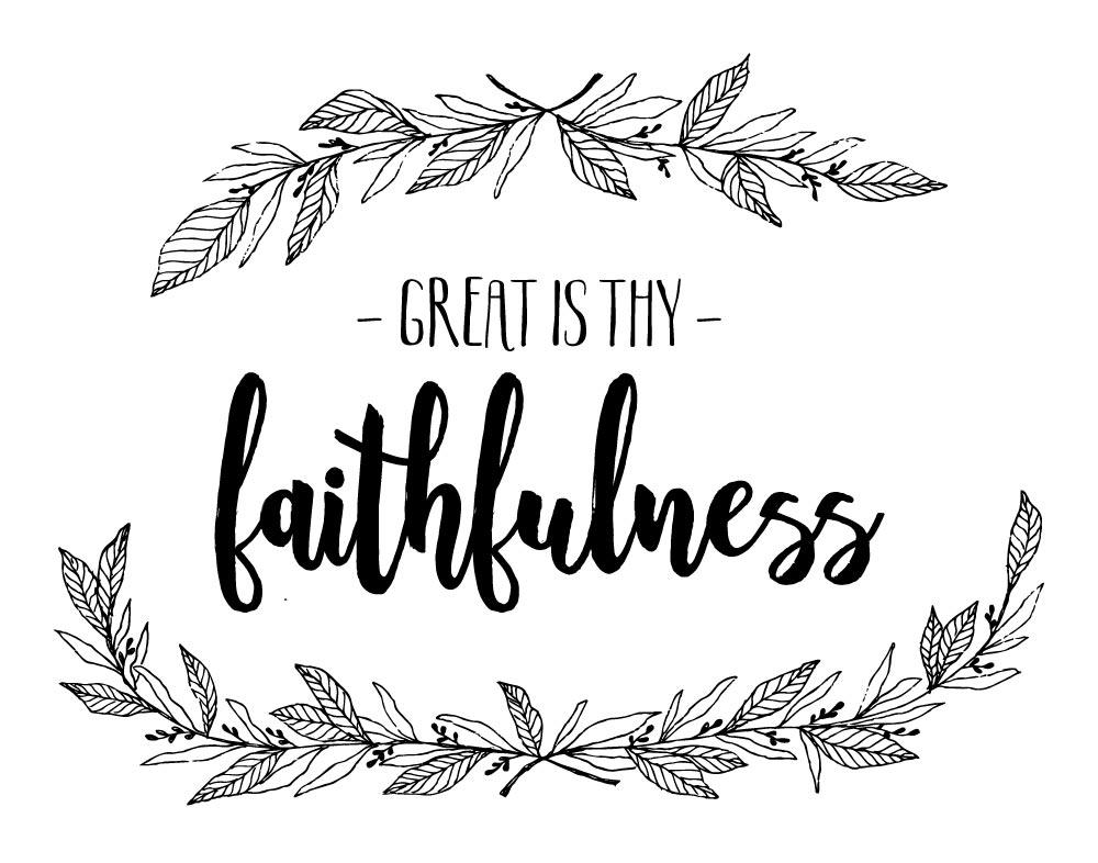 Great Is Thy Faithfulness - Lamentations 3:23