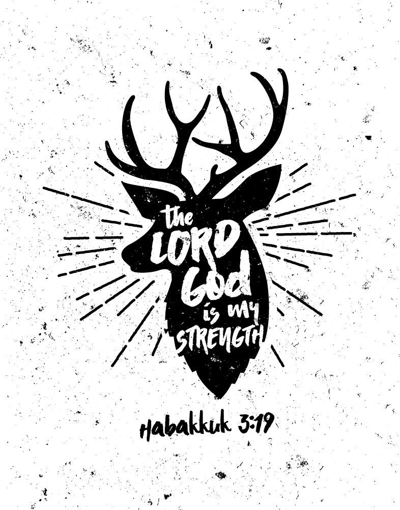 The Lord God is my strength - Habakkuk 3:19