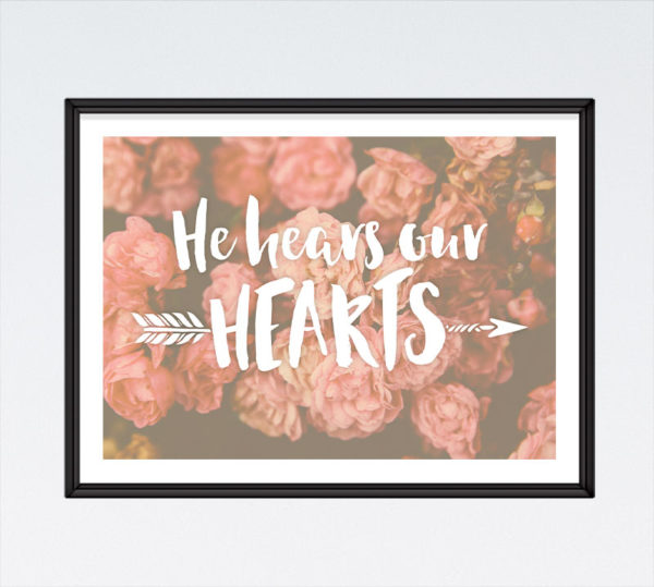 He Hears Our Hearts - Romans 8:26