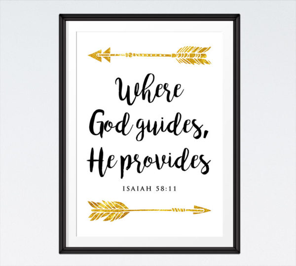Where God guides, He provides - Isaiah 58:11