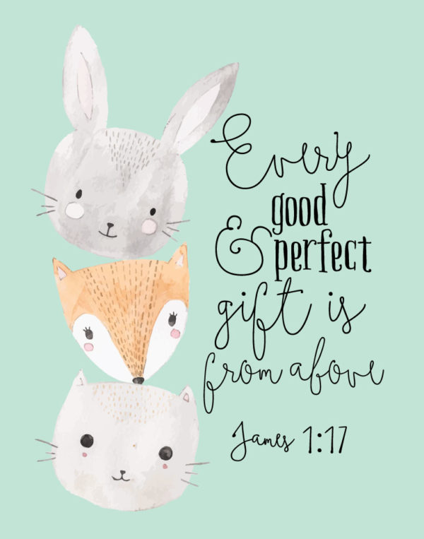 Every good & perfect gift is from above - James 1:17
