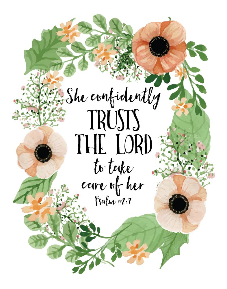 She Confidently Trusts The Lord