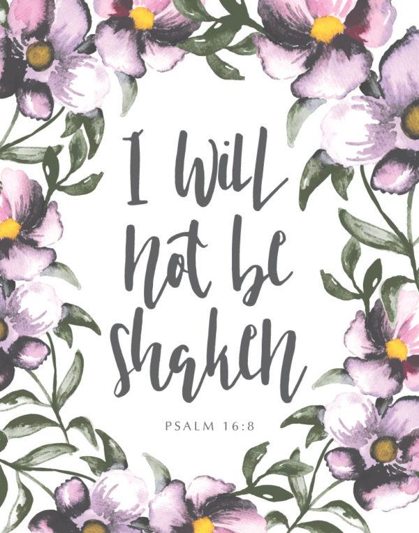 I will not be shaken - Psalm 16:8