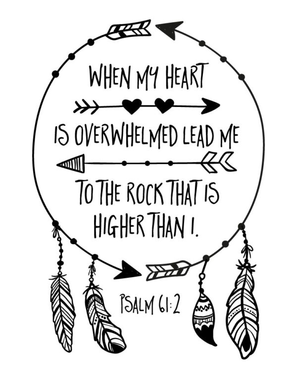 When my heart is overwhelmed lead me to the rock - Psalm 61:2