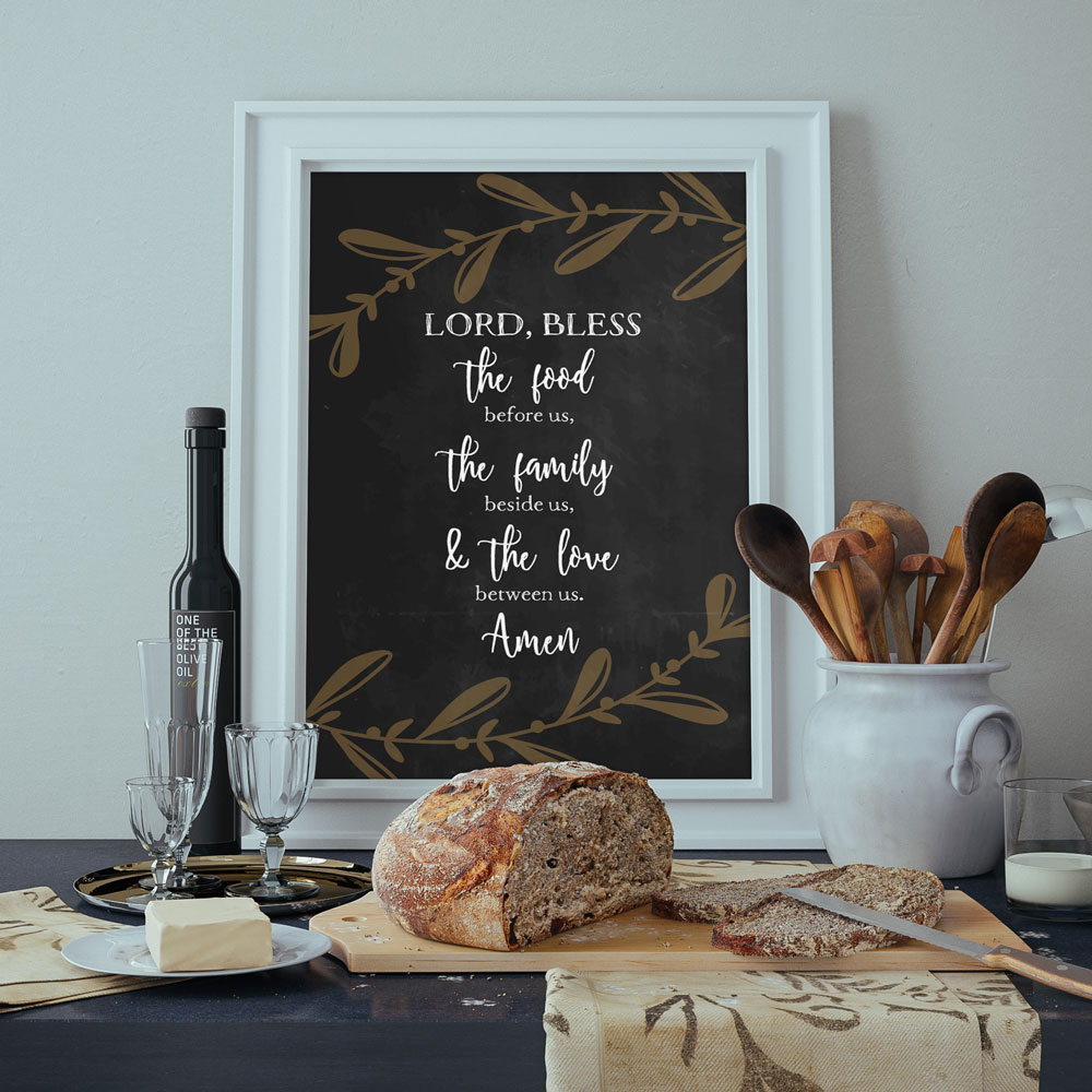 Lord, bless the food before us, the family beside us, & the love between us.
