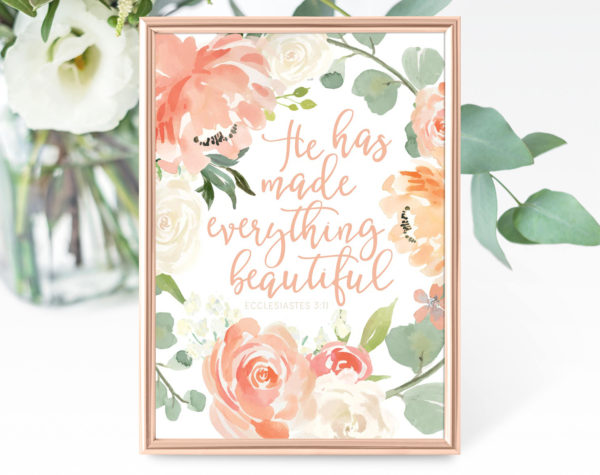 He has made everything beautiful printable