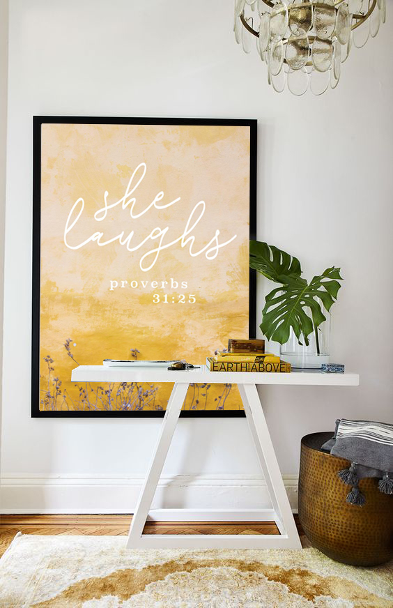 Proverbs 31:25 Christian Home Decor