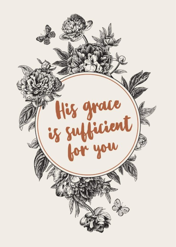 His grace is sufficient print