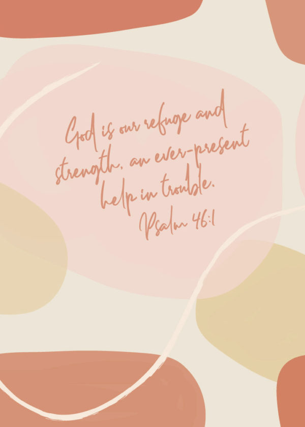 Psalm 46:1 Bible Verse Print