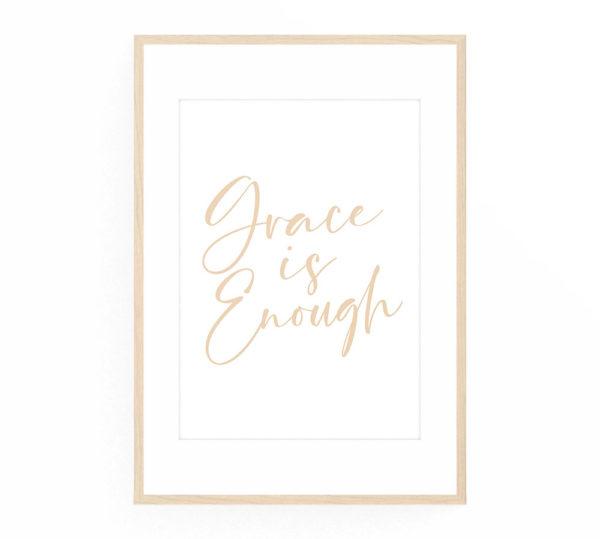 Grace is Enough Art Print