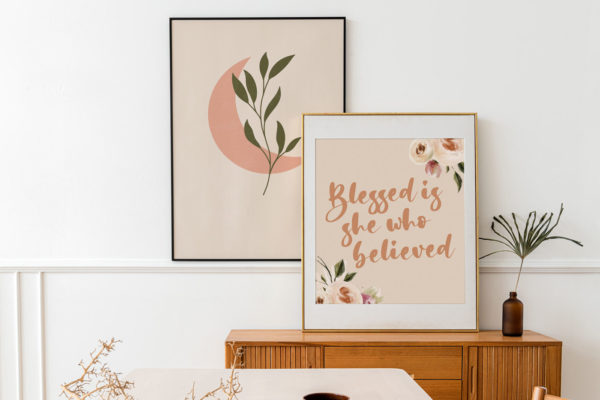 Blessed is she who believed print