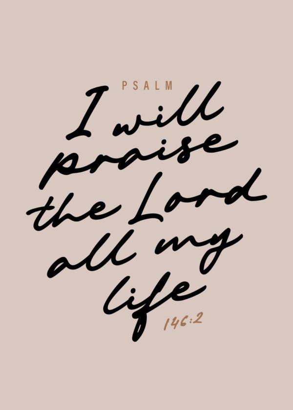 Psalm 146 art print