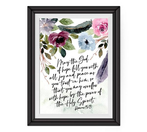 Romans 15:13 Art Print